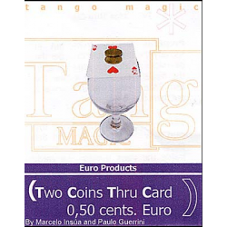 Two Coins Thru Card (1/2 dollar)