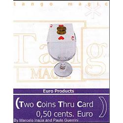 Two Coins Thru Card (1/2 dollar)