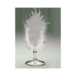La fumée dans le verre