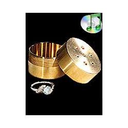 Ring Box brass - la bague dans la boite