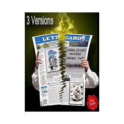 Journal Déchiré classique 1 FEUILLE ( 3 versions )( Téléchargement )