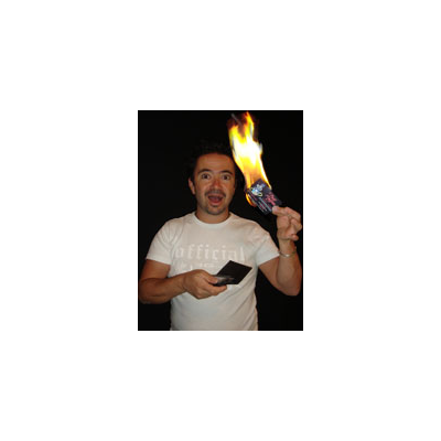 Carte de visite en feu